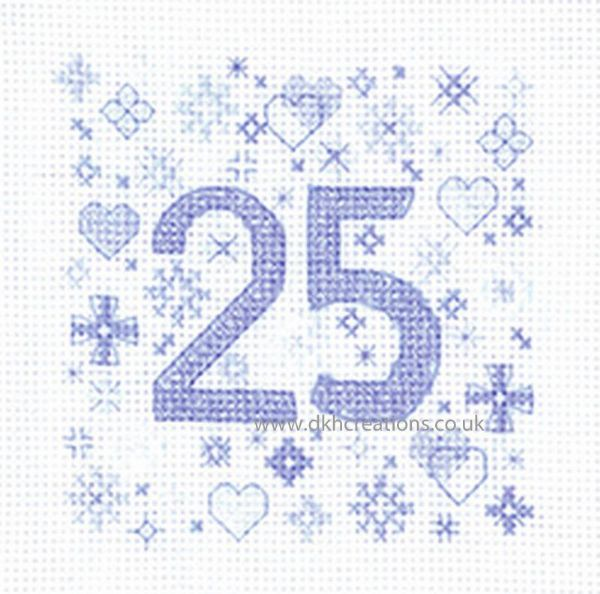Sue Ryder Occasions 25th Anniversary Greeting Card Cross Stitch Kit